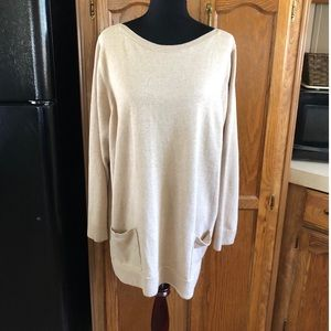 Jeanne Pierre Tunic Sweater with Pockets Size 3X